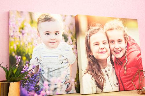 photo canvas print of children
